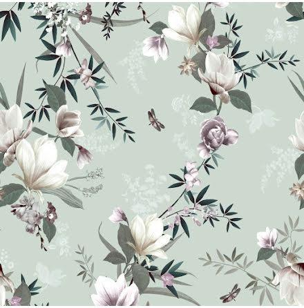Muriva Lipsy Lotus Tapet med blommor 144050 Duck Egg