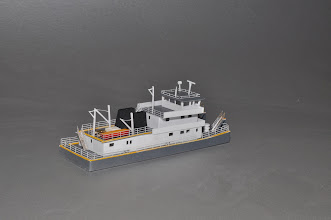 Photo: 110' Z Scale Towboat STBD Stern View