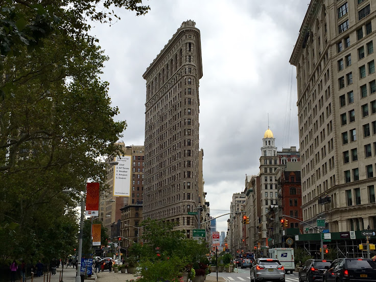 The Flat Iron Building, photographed from 24th and 5th.