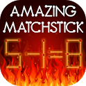 Amazing matchstick icon