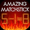 Amazing matchstick icon