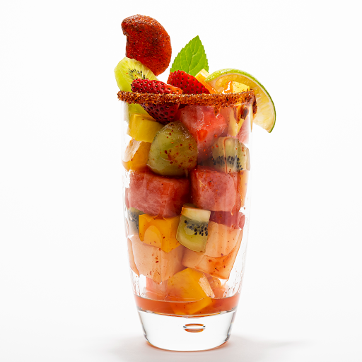 Mixed & Seasonal Fruta Picada (Chopped Seasonal Fruits + Chilli-Mango Lollipop)
