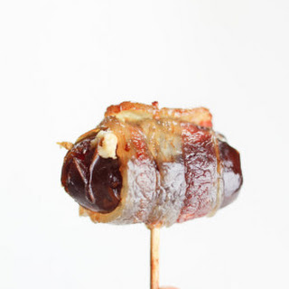 Bacon Wrapped Dates with Goat Cheese.