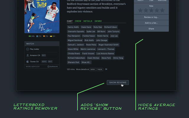 Letterboxd Ratings Remover