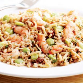 Rice Pilaf with Shrimp.