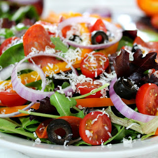 Clean Eating Pizza Salad Recipe