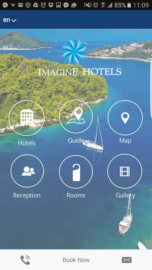 Imagine Hotels App- screenshot