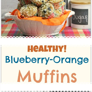 Healthy Blueberry Orange Muffin