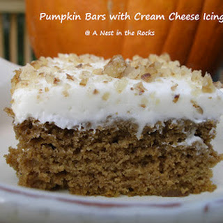 Pumpkin Bars with Cream Cheese Icing