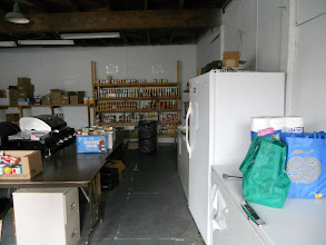 Photo: Our small donation will help stock those shelves.