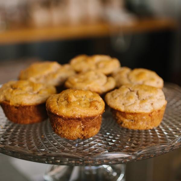 Orange vanilla muffins. Yum! Fresh ingredients only.