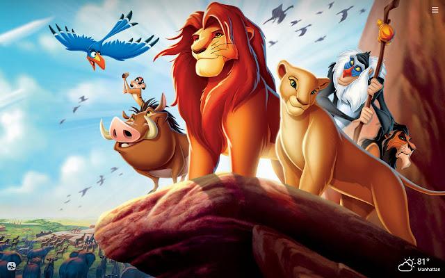 Lion King HD Wallpapers New Tab Theme
