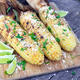Grilled Mesquite Chili Lime Corn.