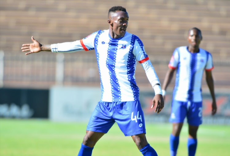 Yannick Zakri of Maritzburg United during the Absa Premiership match between Polokwane City and Maritzburg United at Old Peter Mokaba Stadium on October 27, 2018 in Polokwane, South Africa.