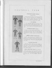 Photo: Team:Halfback-Charlie Clark/Guard-C.W.Moore/Center-Charlie Hunt/Quarterback-Jimmie HIcky/Alston Taylor/Guard-Fred Whitted (No Picture)