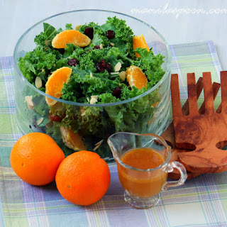 Fruity Kale Salad with Asian Vinaigrette
