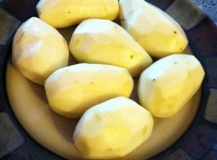 Wash and peel potatoes. Cut each potato in to 6- 8 pieces. I try...