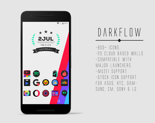DarkFlow - Icon Pack Apk Download Free for PC, smart TV