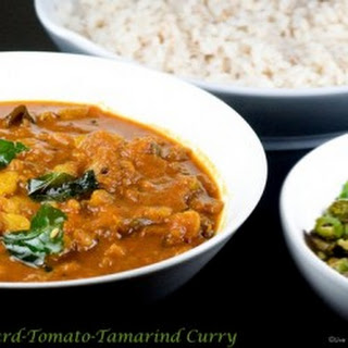 Comfort Food – Bitter Gourd-Tomato-Tamarind Curry