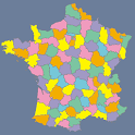 France Departments Map Puzzle icon