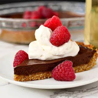 Chocolate Tart with Graham Cracker-Almond Crust.