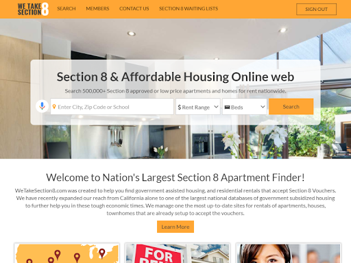 Section 8 and Affordable Rentals for PC