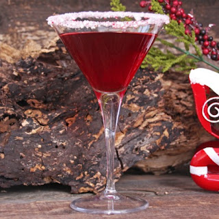 Cranberry Peppermint Martini.