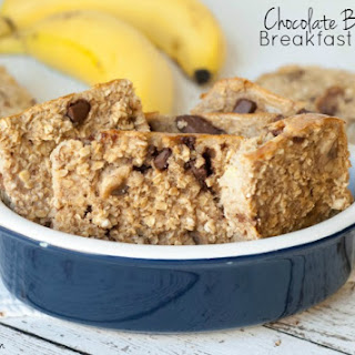 Low-Calorie Chocolate Banana Oatmeal Breakfast Bars Recipe