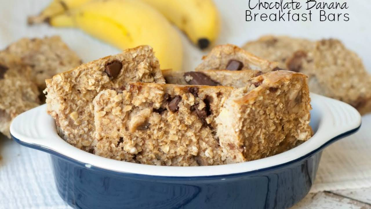 banana dessert recipes low calorie Low-Calorie Chocolate Banana Oatmeal Breakfast Bars
