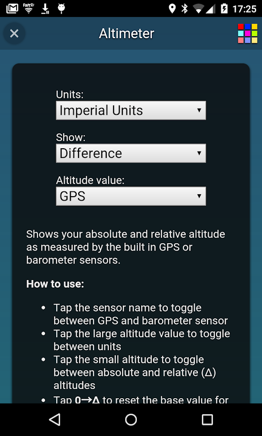 Altimeter- screenshot
