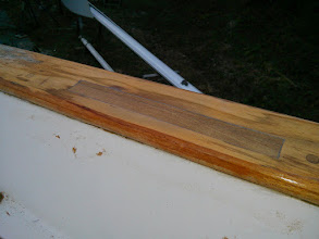 Photo: port, forward repair after sanding down excess wood and epoxy.