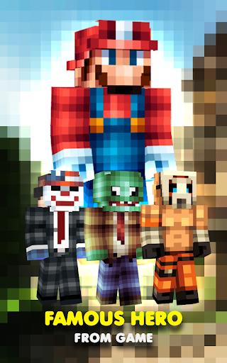 Skins famous hero Minecraft:PE
