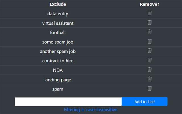 Freelancer Filter - Filter Unwanted Jobs