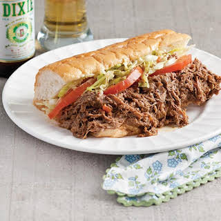 Roast Beef Po' Boys with Debris.