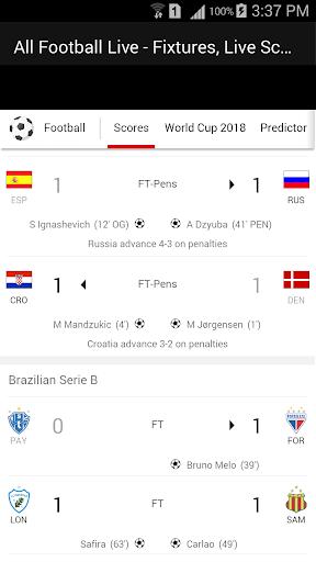 All Football Live - Fixtures, Live Scores, News 1.1 screenshots 3