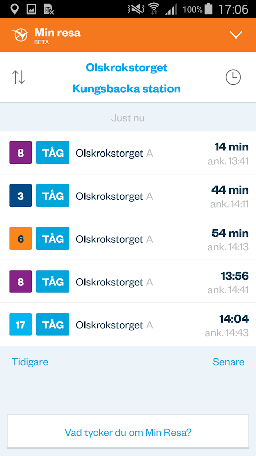 Västtrafik To Go- screenshot