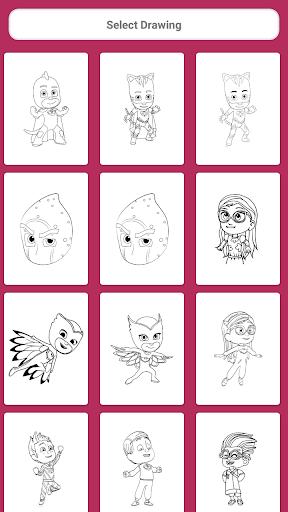 PJ Superheroes Masks Coloring 1.6 screenshots 1