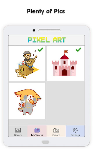 Pixel No.Draw: Color By Number, Art, Coloring Book image   13