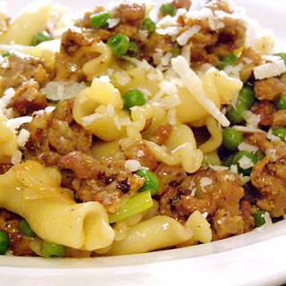 Pasta with Sausage and Leeks.