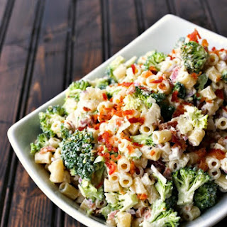Easy Bacon Broccoli Pasta Salad.