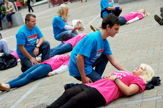 Photo: Take Epilepsy Action campaign in cities across the UK, raising awareness of types of seizures and first aid for seizures.