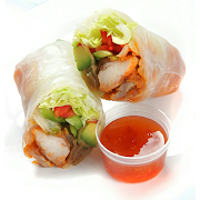 Spicy Chicken Rice Paper Roll