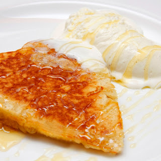 Apple Pancakes with Ice Cream and Honey.