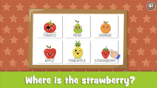 Learn fruits and vegetables - games for kids screenshots 3