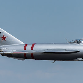 MIG 17 by Steven Aicinena - Transportation Airplanes ( fighter jet, aicinena, icemanphoto.com, mig 17,  )