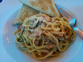 Photo: This is a great tasting pasta dish! My late lunch after 3 hours in transit via Five Star