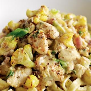 Chicken and Hummus Fettucine