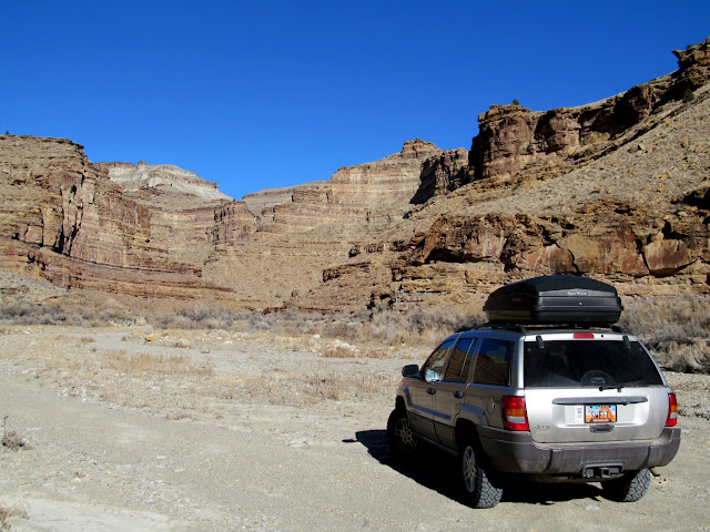 Parked in a side canyon