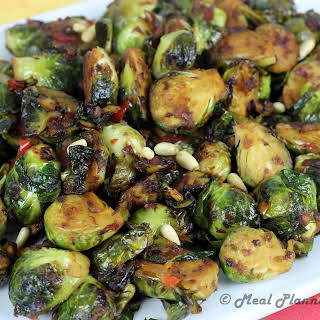 Balsamic-Glazed Brussels Sprouts.