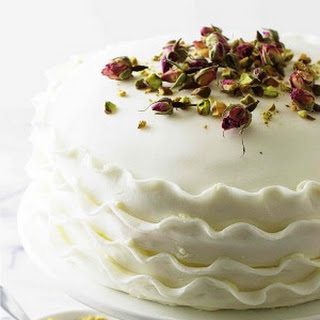 Vanilla, Rose and Pistachio Cake.
